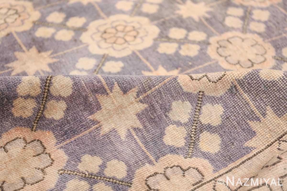 Beautiful Square Purple Antique Khotan Rug 48783 Geometric Pile Nazmiyal