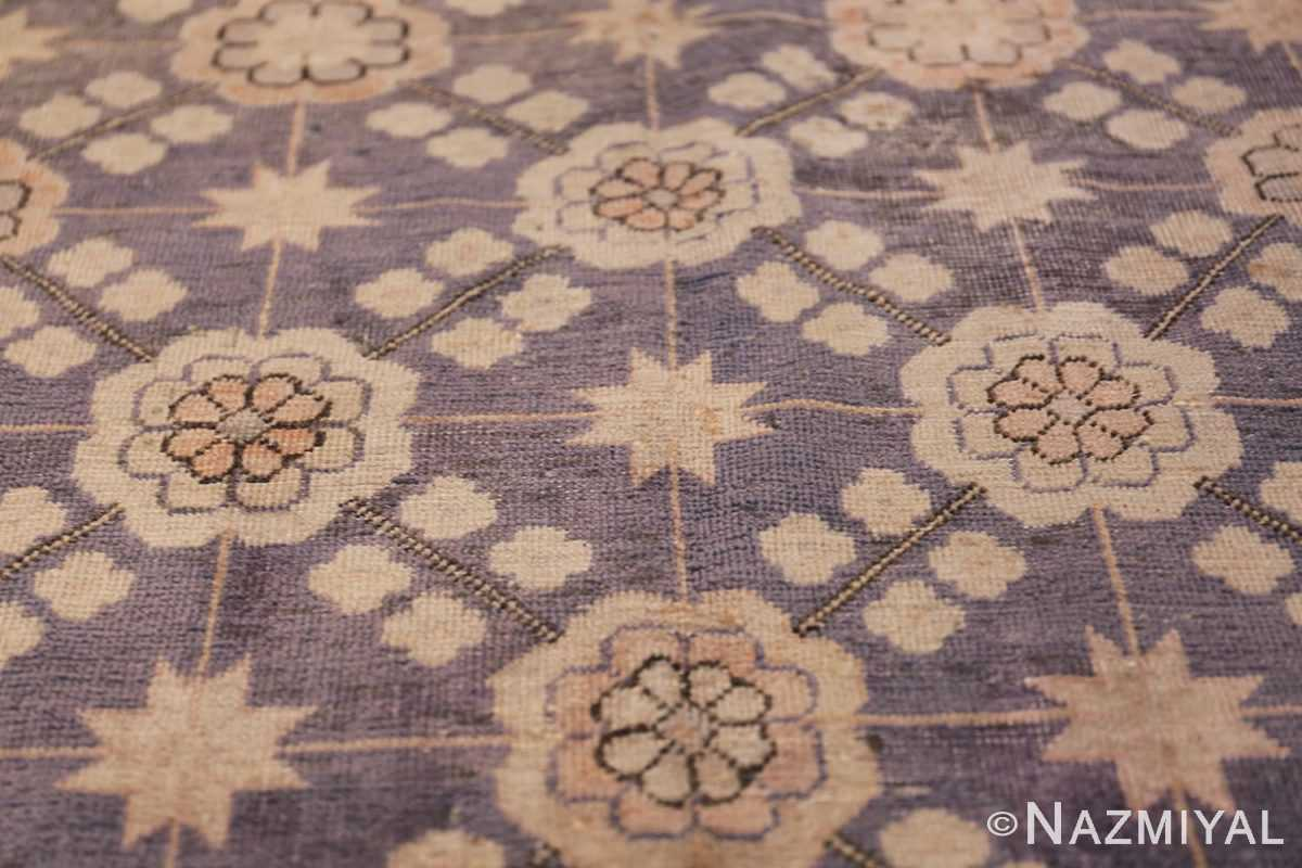 Beautiful Square Purple Antique Khotan Rug 48783 Inner Star Nazmiyal