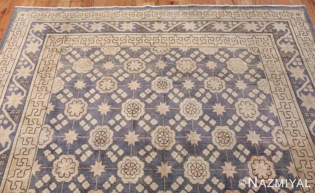 Beautiful Square Purple Antique Khotan Rug 48783 Top Design Nazmiyal