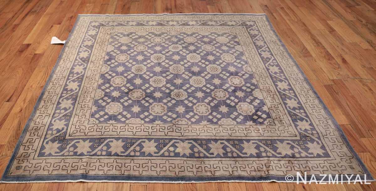 Beautiful Square Purple Antique Khotan Rug 48783 Whole Design Nazmiyal