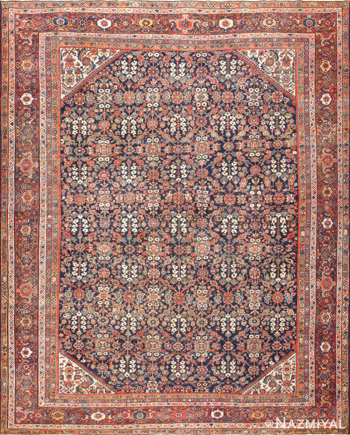 Blue Background Persian Antique Sultanabad Rug 50684 Nazmiyal