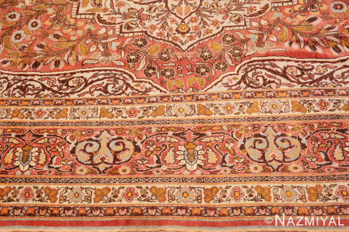 Border Fine Antique Persian Tabriz Oriental rug 50572 by Nazmiyal