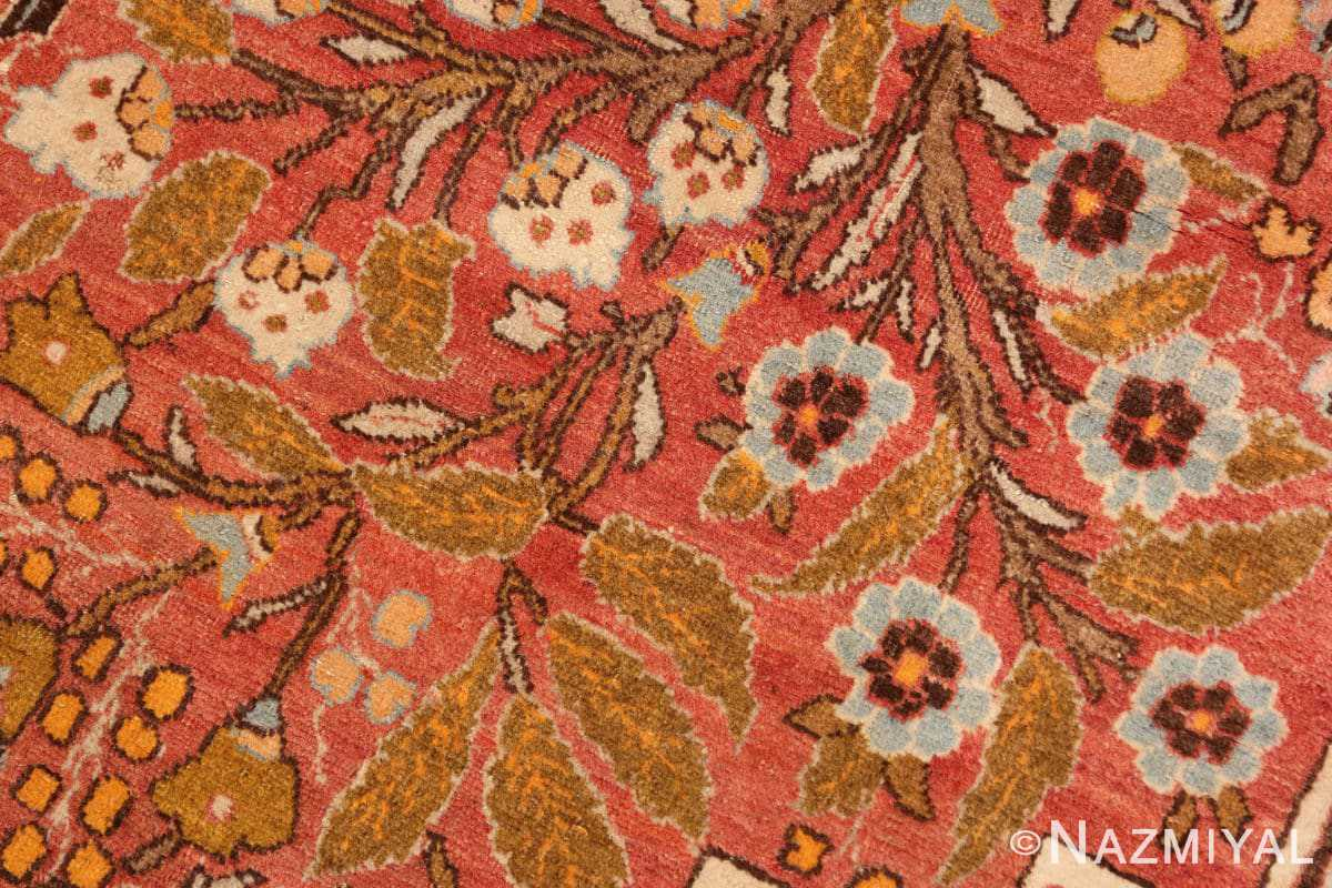 Close-up Fine Antique Persian Tabriz Oriental rug 50572 by Nazmiyal