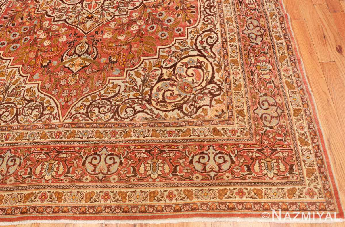 Corner Fine Antique Persian Tabriz Oriental rug 50572 by Nazmiyal