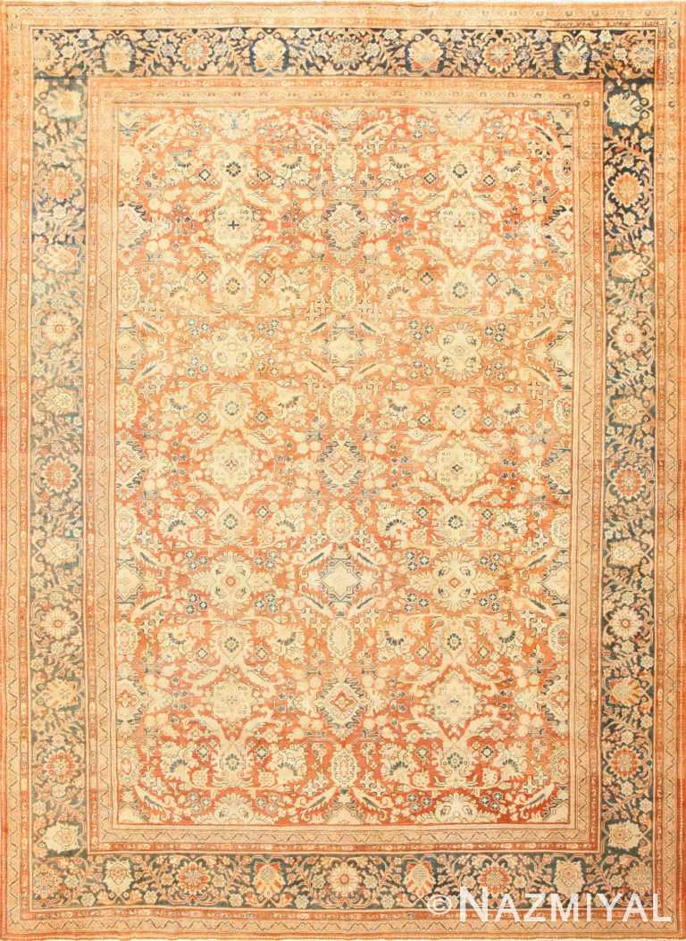 Decorative Antique Persian Sultanabad Mahal Rug 48731 Nazmiyal
