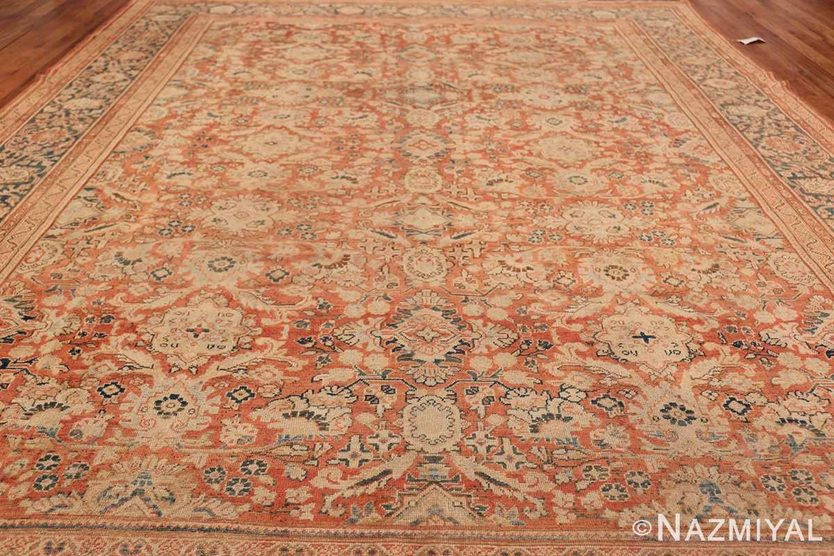 Decorative Antique Persian Sultanabad Mahal Rug 48731 Field Wide Shot Nazmiyal