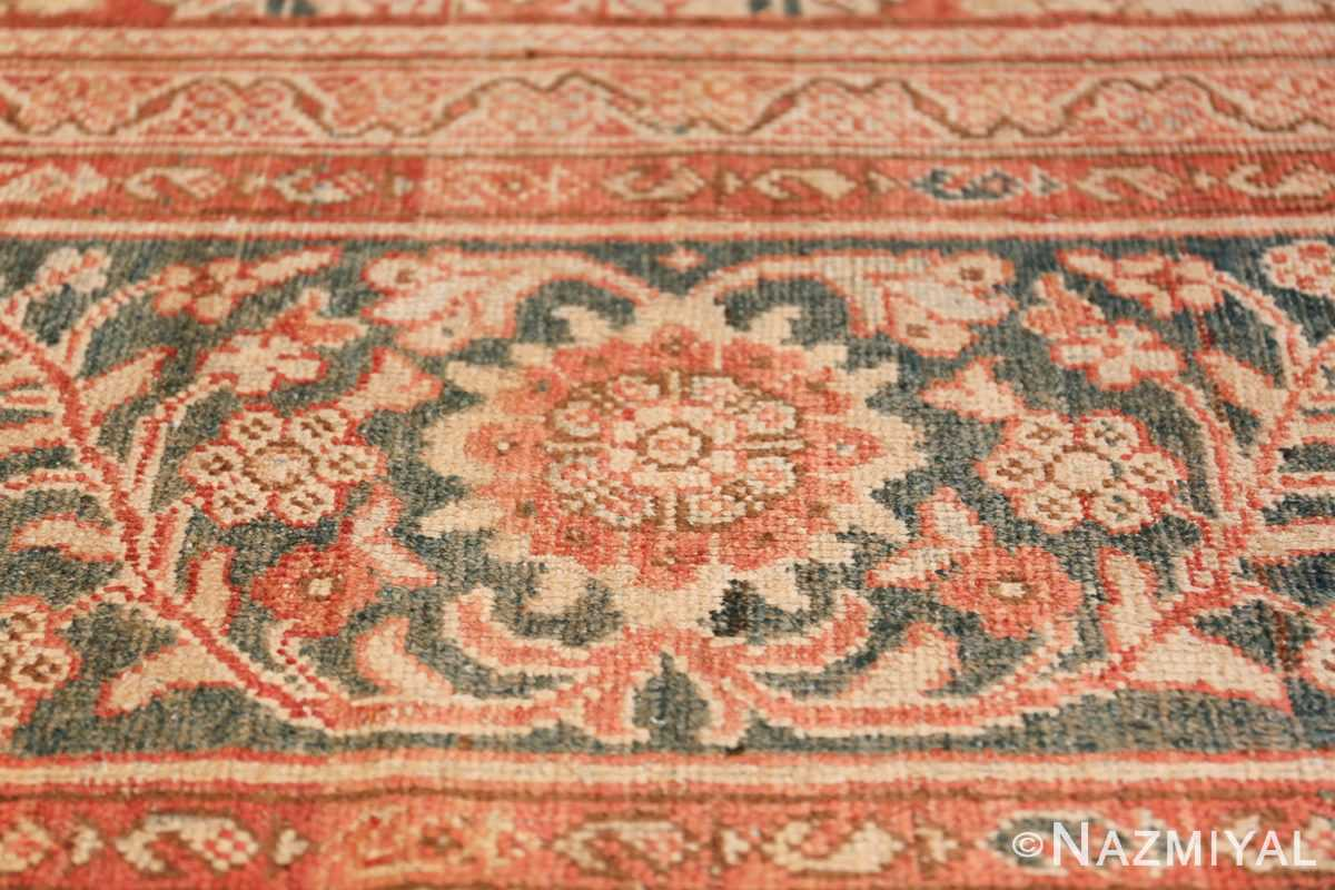 Decorative Antique Persian Sultanabad Mahal Rug 48731 Flower on Border Nazmiyal