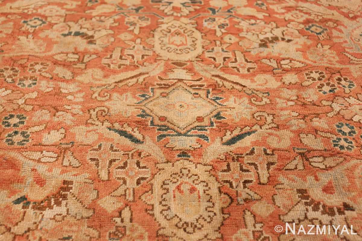 Decorative Antique Persian Sultanabad Mahal Rug 48731 Light Side Shape Nazmiyal