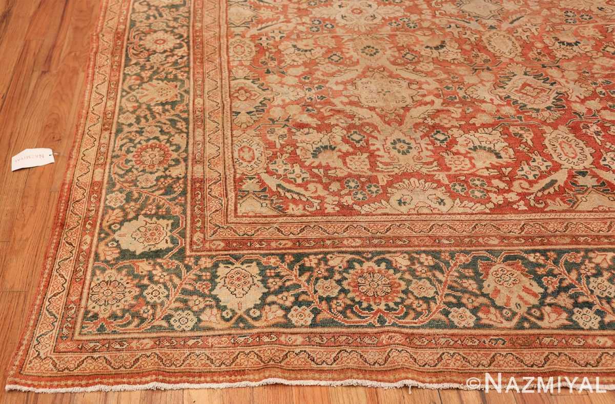 Decorative Antique Persian Sultanabad Mahal Rug 48731 Side Corner Nazmiyal