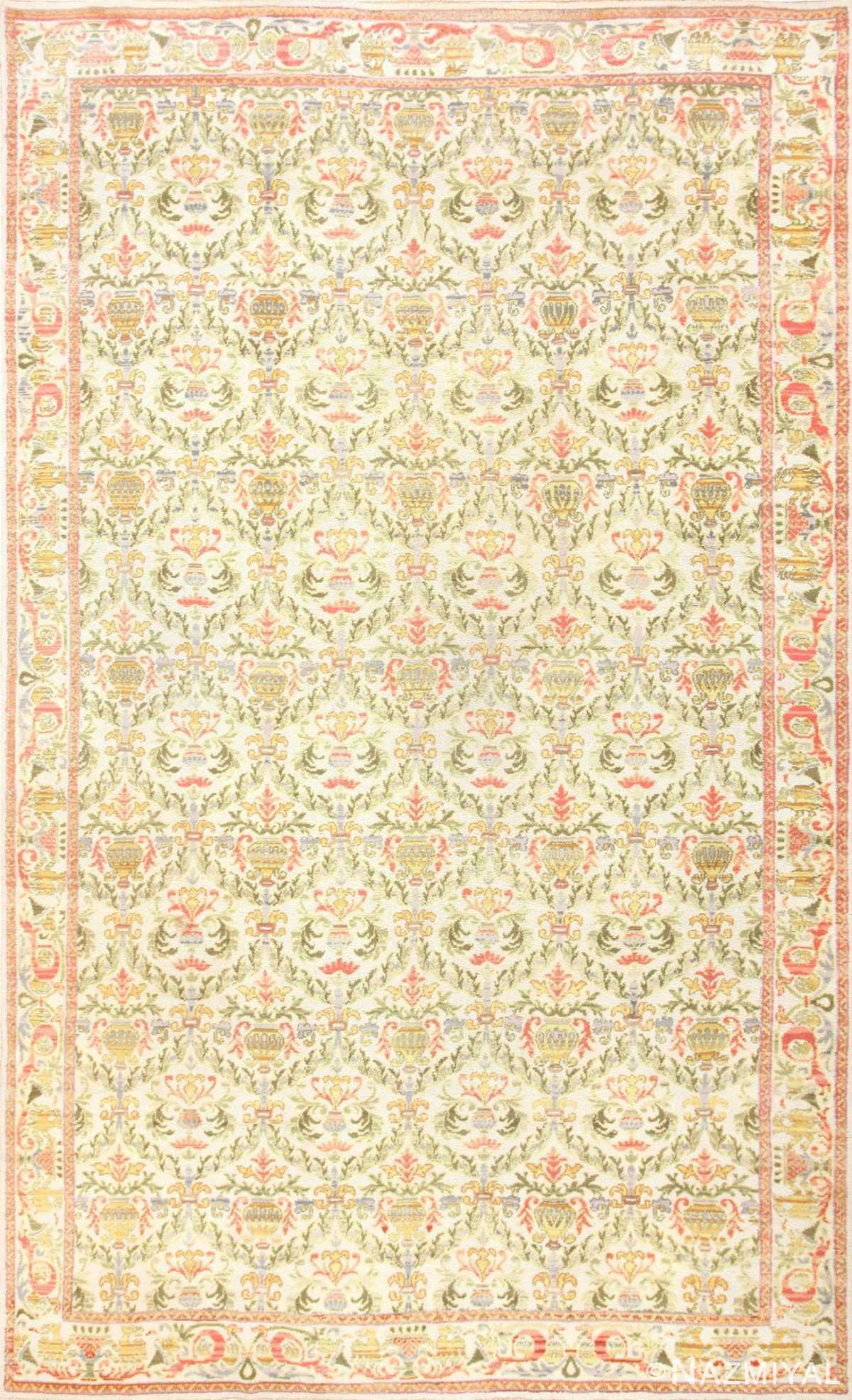 Decorative Large Antique Spanish Rug 50581 Nazmiyal