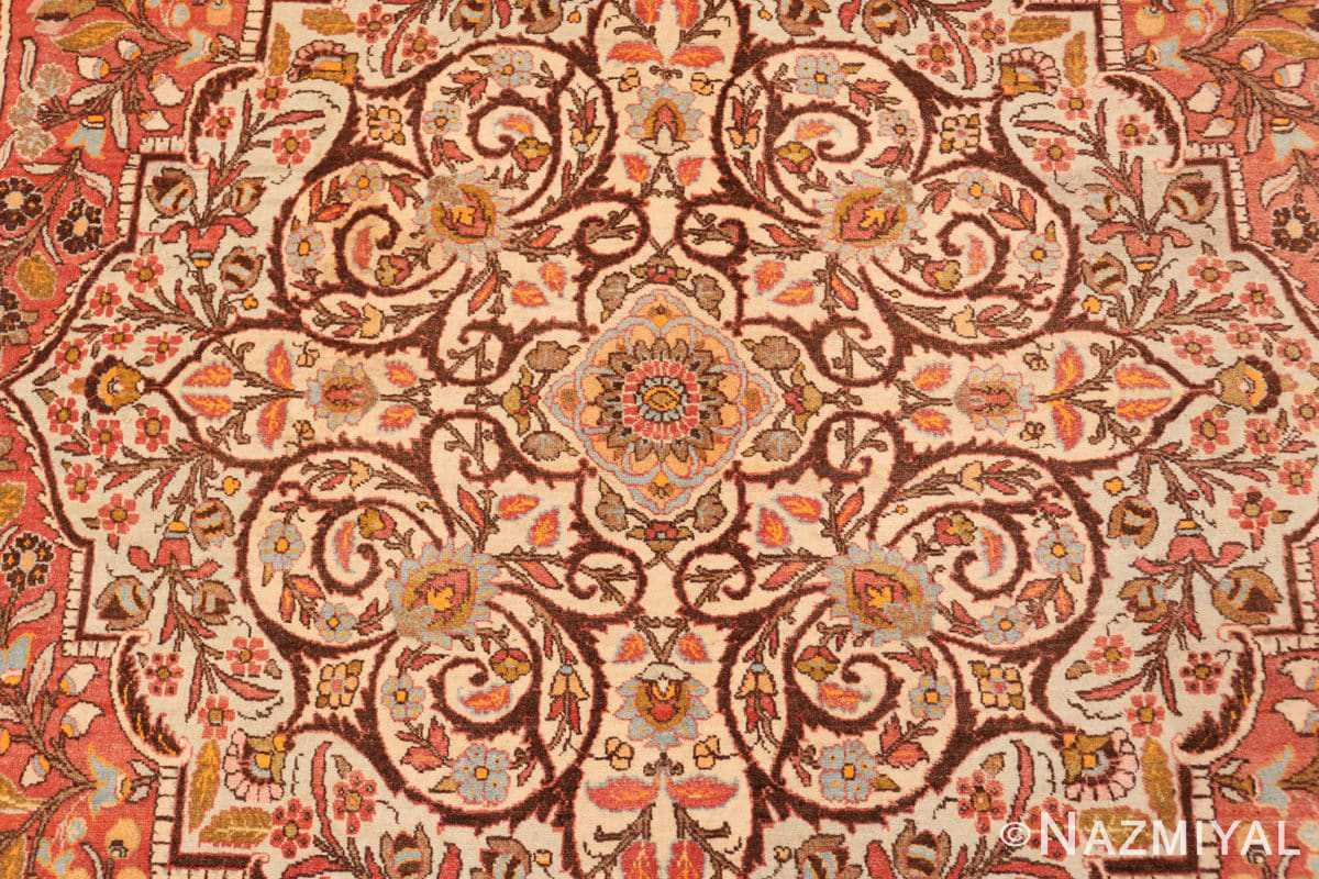 Detail Fine Antique Persian Tabriz Oriental rug 50572 by Nazmiyal
