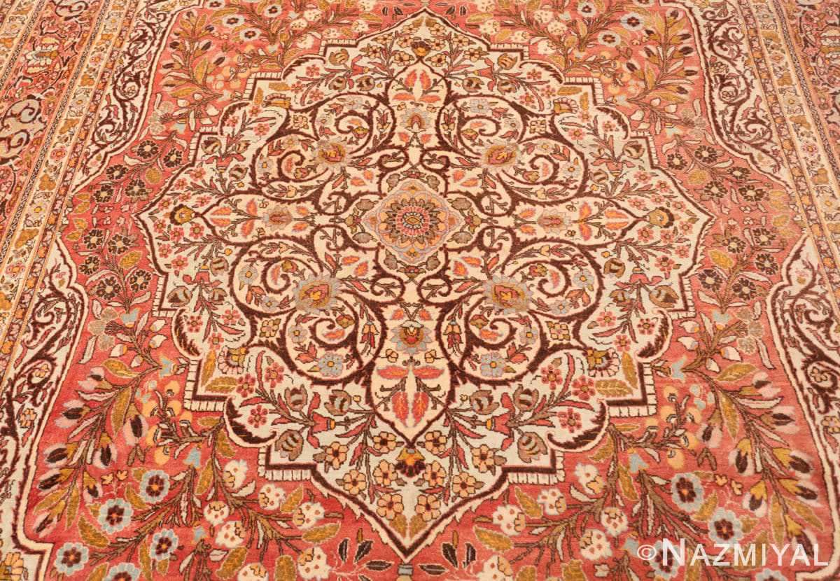 Field Fine Antique Persian Tabriz Oriental rug 50572 by Nazmiyal
