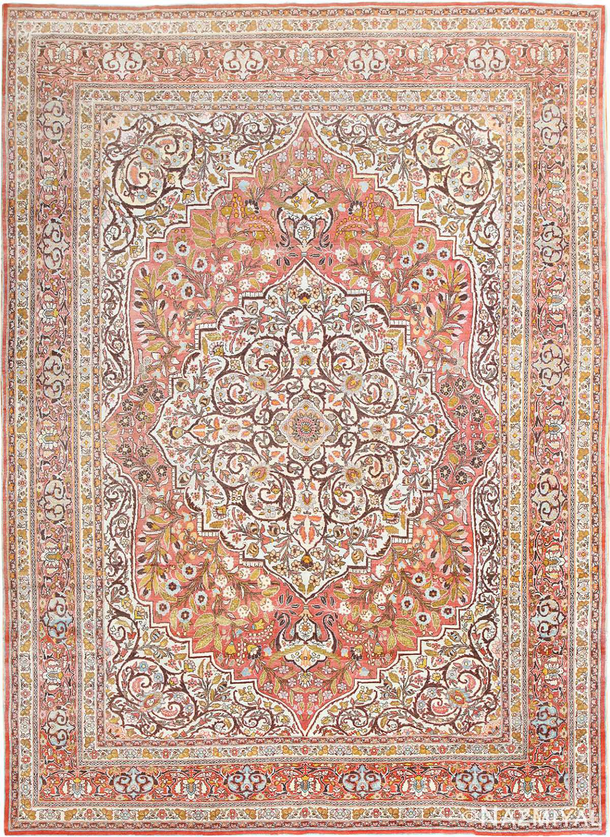Fine Antique Persian Tabriz Oriental Rug 50572 Nazmiyal