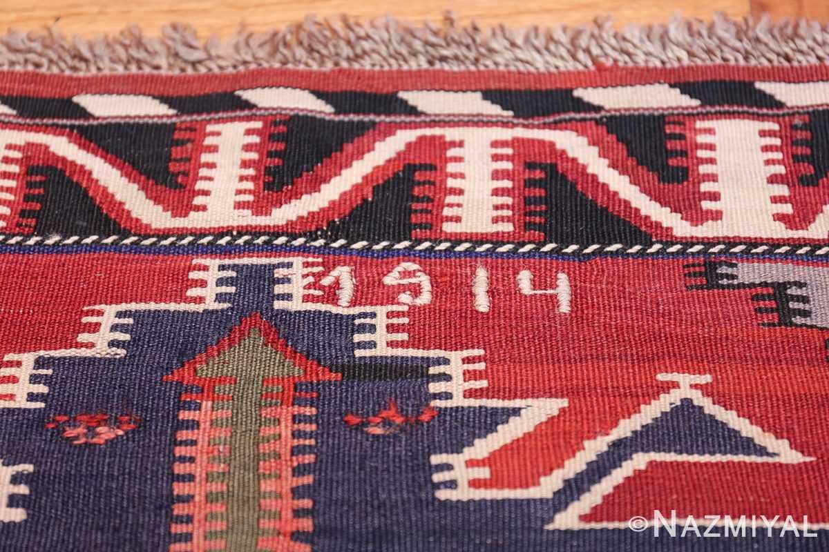 Gallery Size Antique Tribal Turkish Kilim Rug 50679 Date Nazmiyal