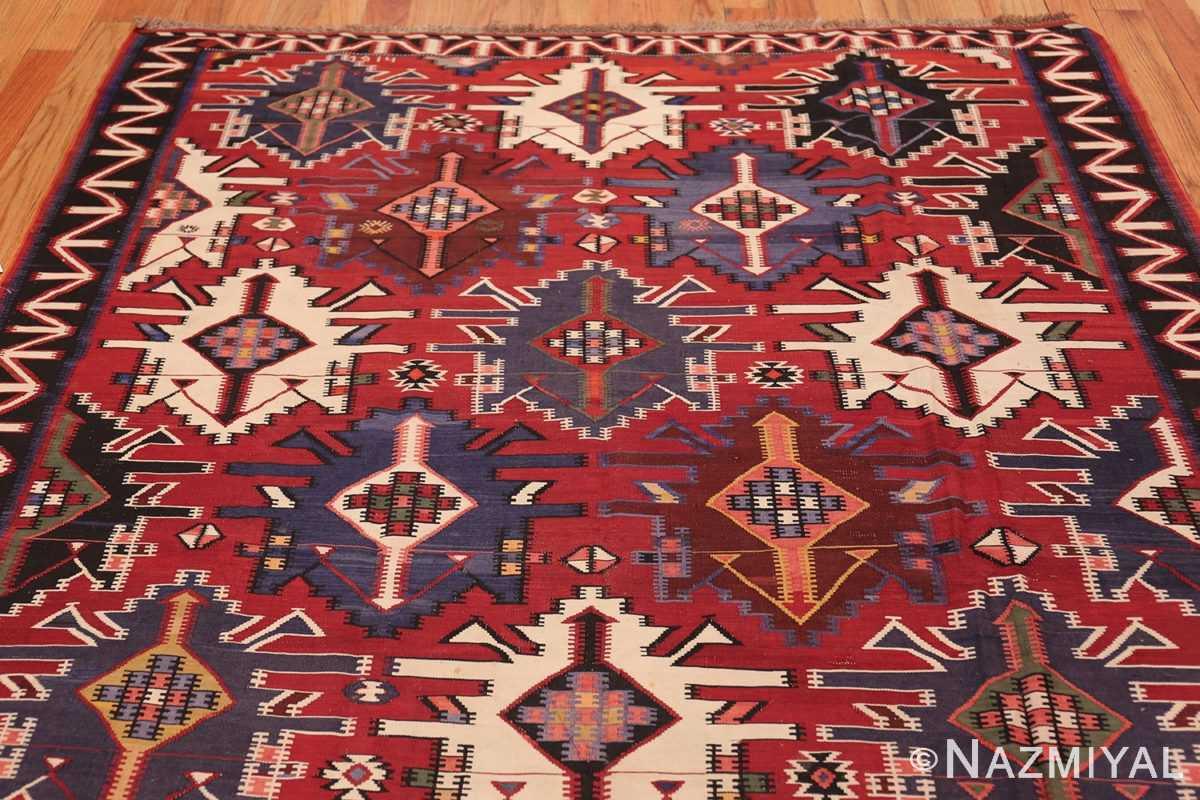 Gallery Size Antique Tribal Turkish Kilim Rug 50679 Top Design Nazmiyal