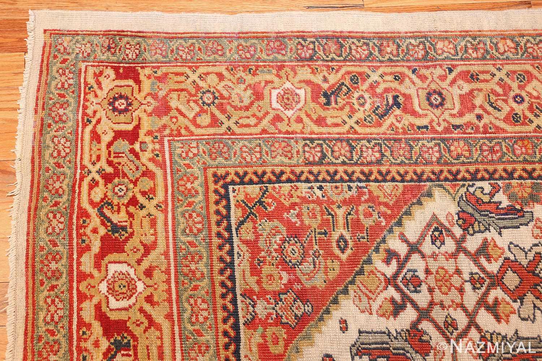 ivory antique sultanabad persian rug 50659 corner Nazmiyal