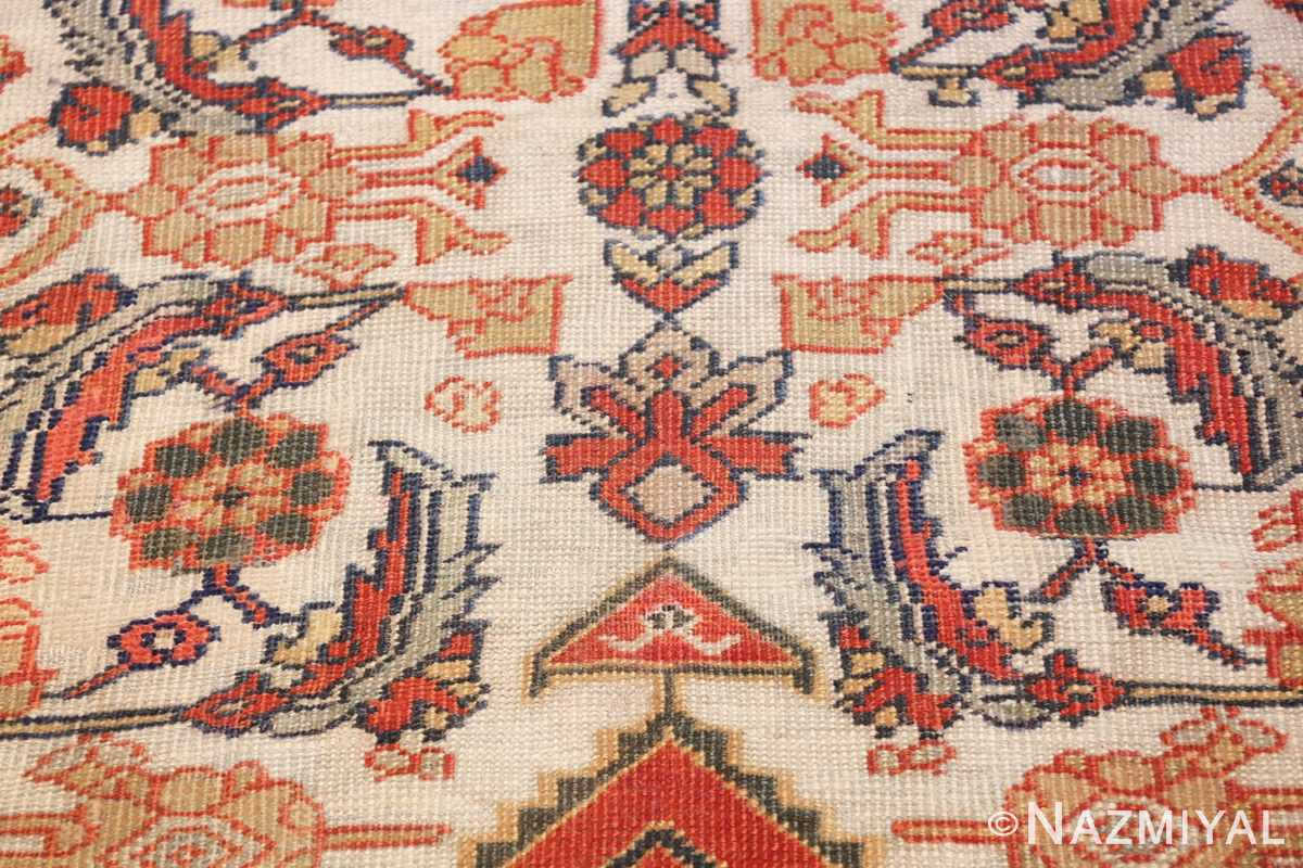 ivory antique sultanabad persian rug 50659 design Nazmiyal