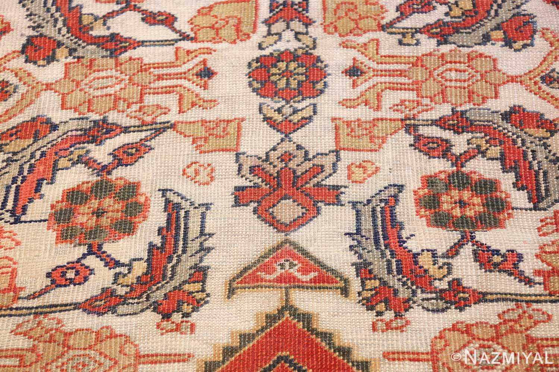 ivory antique sultanabad persian rug 50659 design Nazmiyal