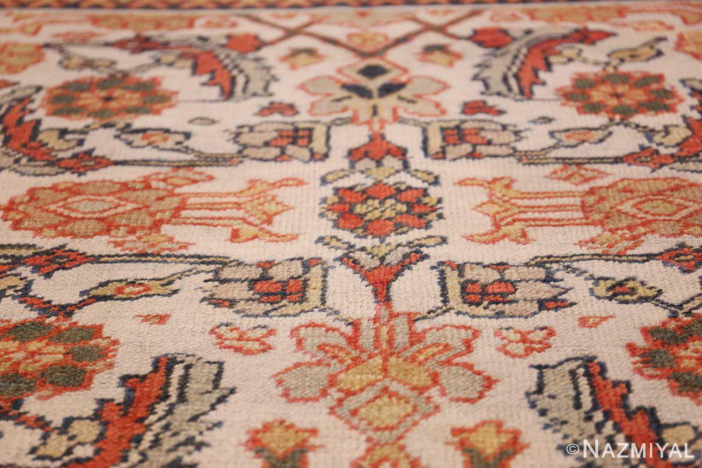 ivory antique sultanabad persian rug 50659 ivory Nazmiyal