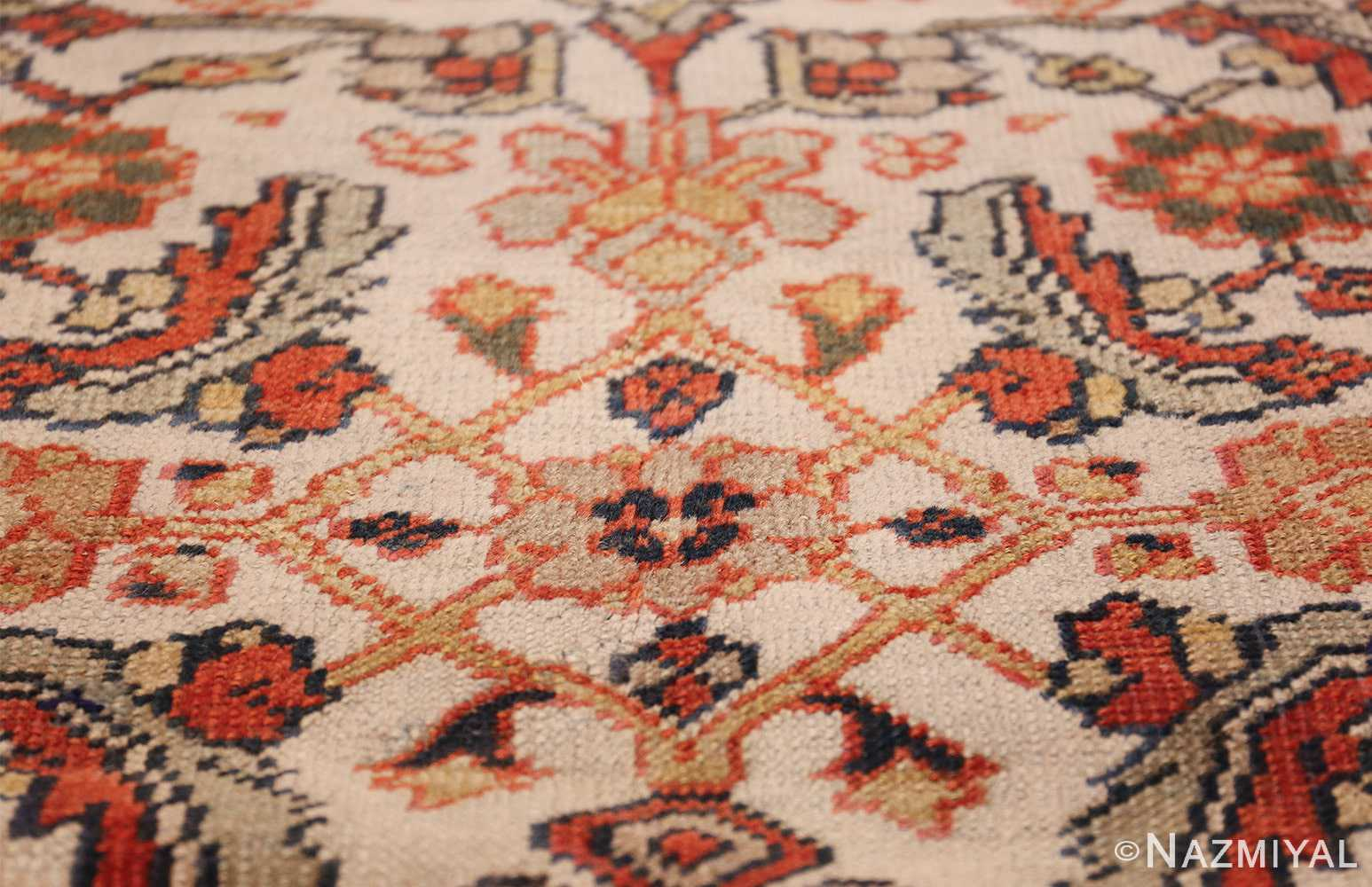 ivory antique sultanabad persian rug 50659 lines Nazmiyal