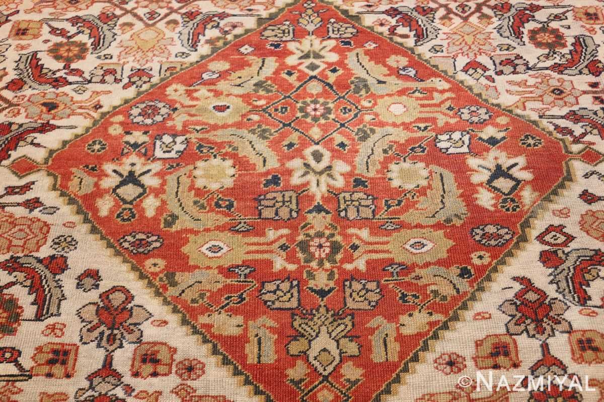 ivory antique sultanabad persian rug 50659 medallion Nazmiyal