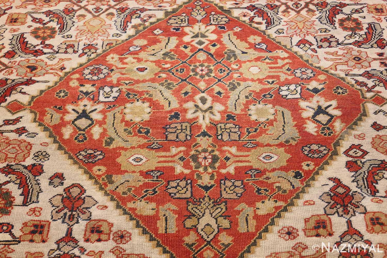 ivory antique sultanabad persian rug 50659 medallion Nazmiyal