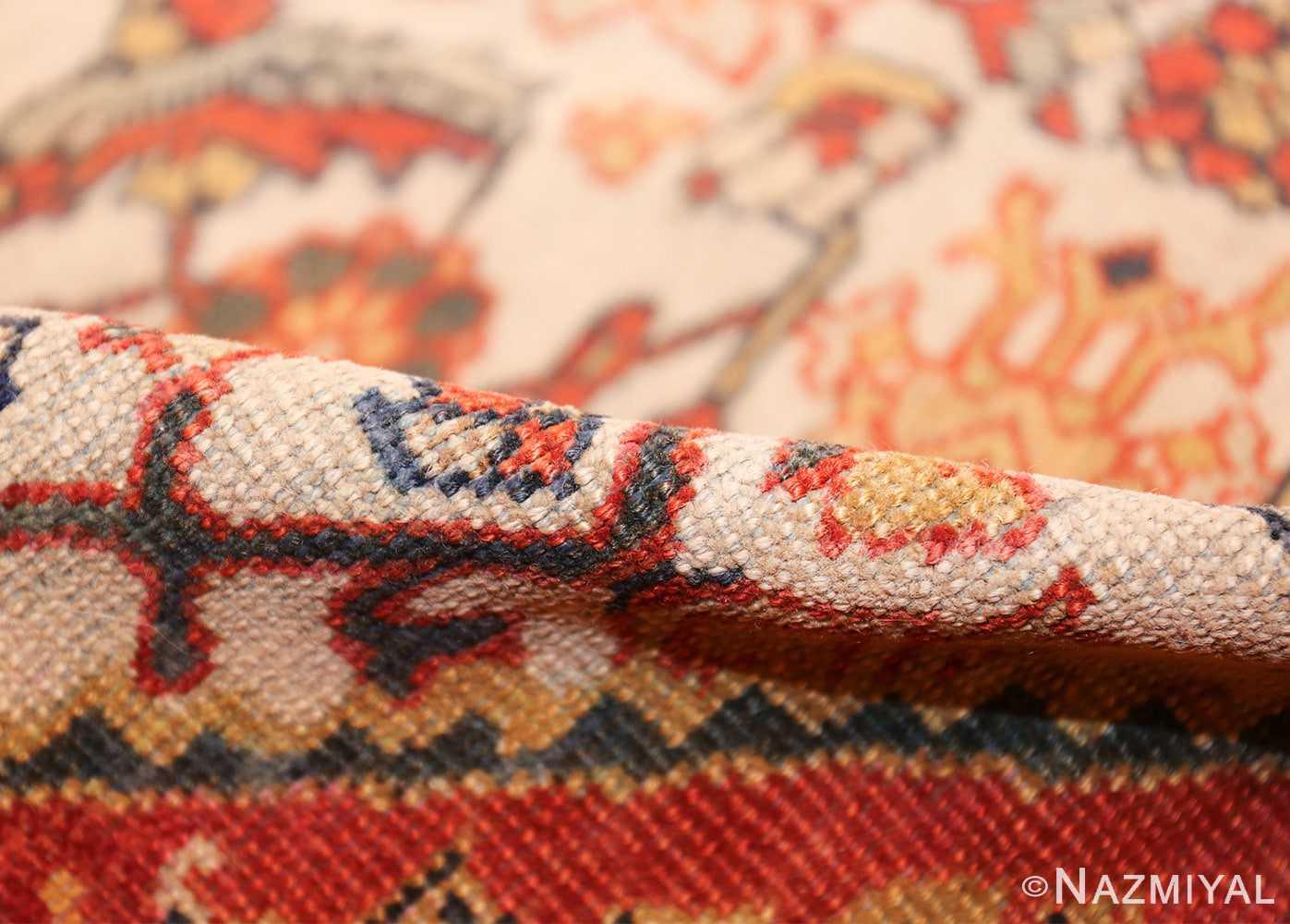 ivory antique sultanabad persian rug 50659 pile Nazmiyal