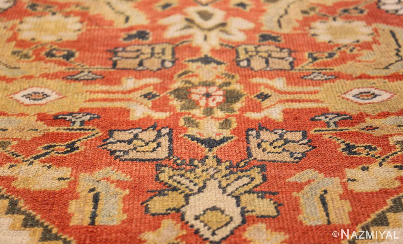 ivory antique sultanabad persian rug 50659 red Nazmiyal