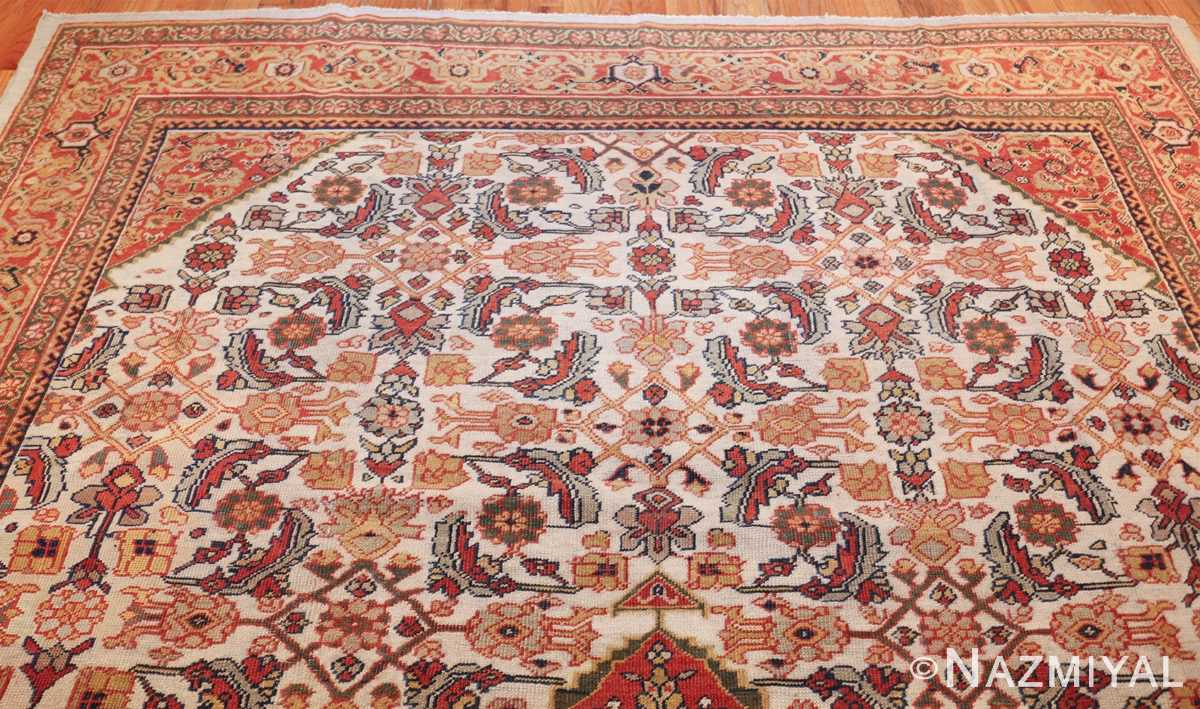 ivory antique sultanabad persian rug 50659 top Nazmiyal