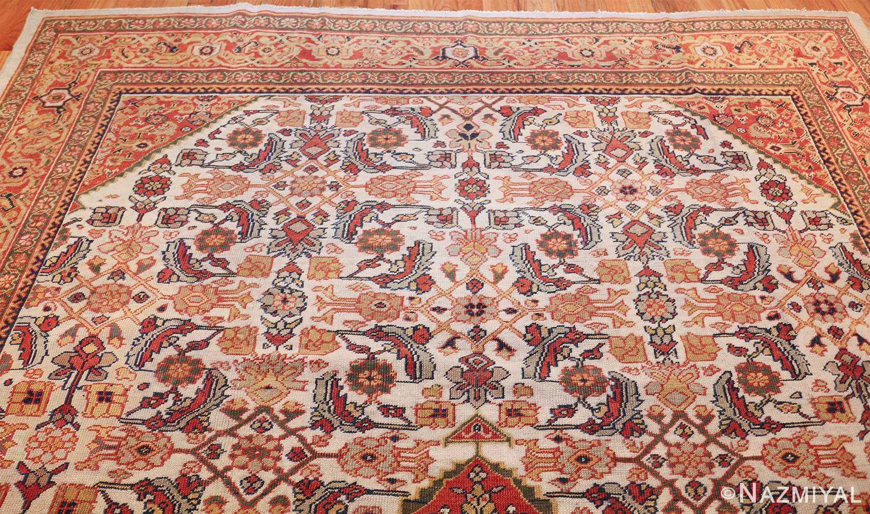 ivory antique sultanabad persian rug 50659 top Nazmiyal
