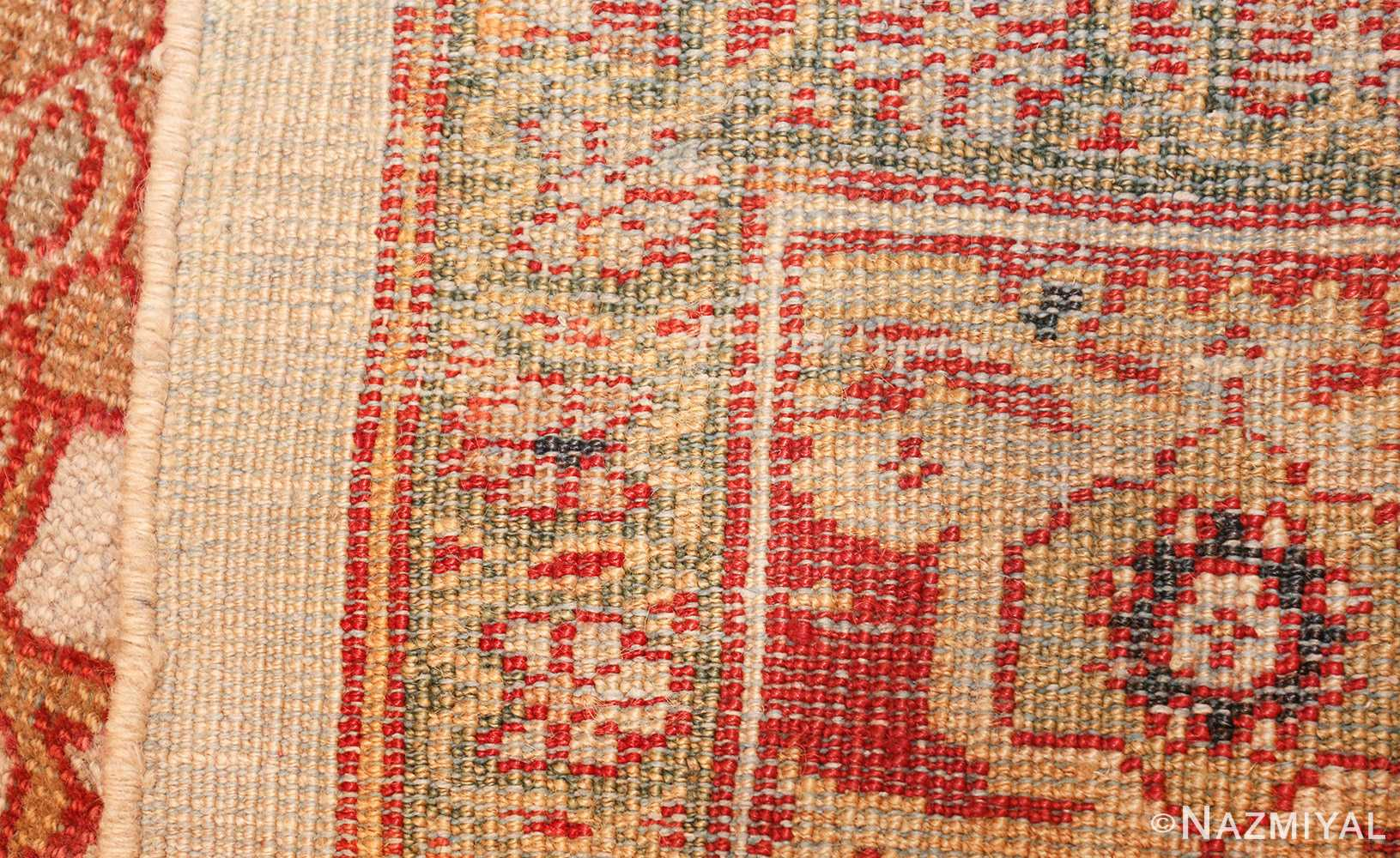 ivory antique sultanabad persian rug 50659 weave Nazmiyal