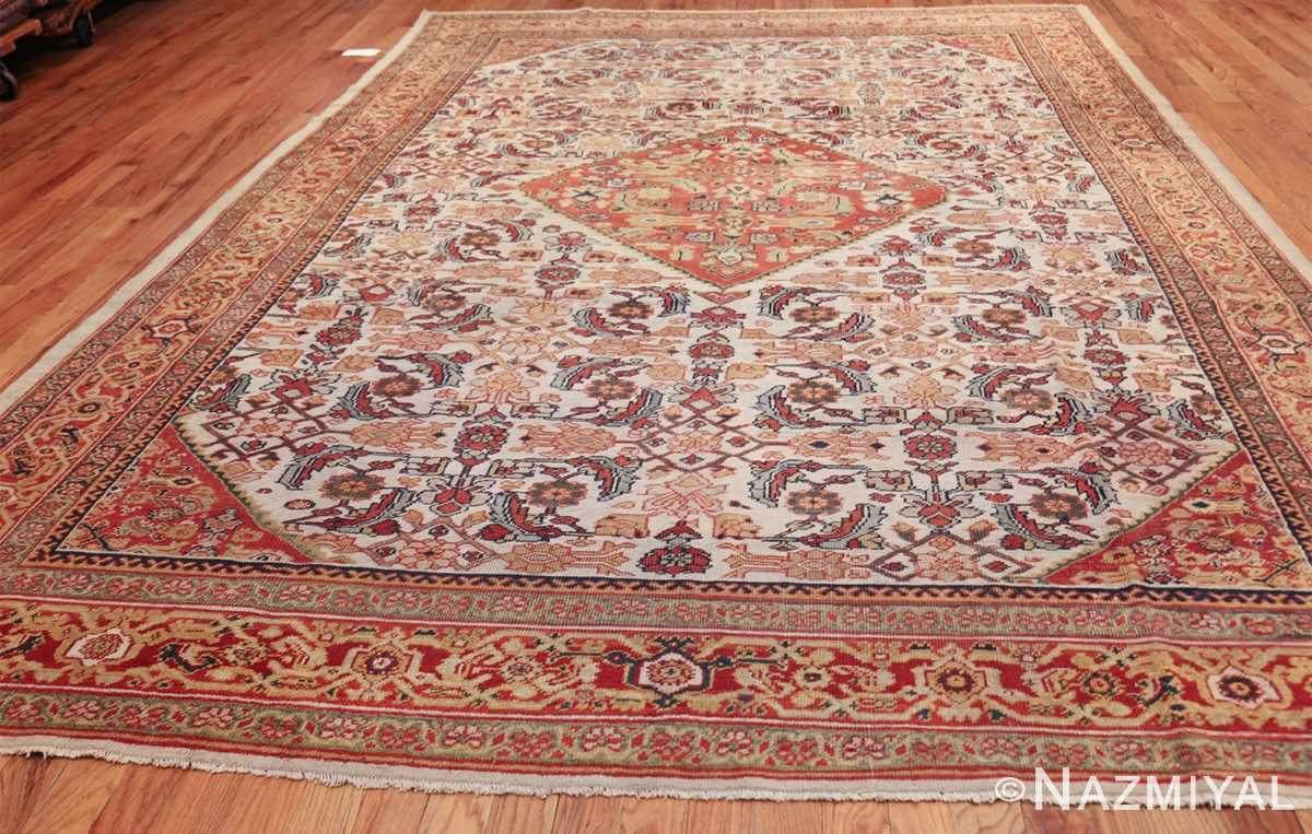 ivory antique sultanabad persian rug 50659 whole Nazmiyal