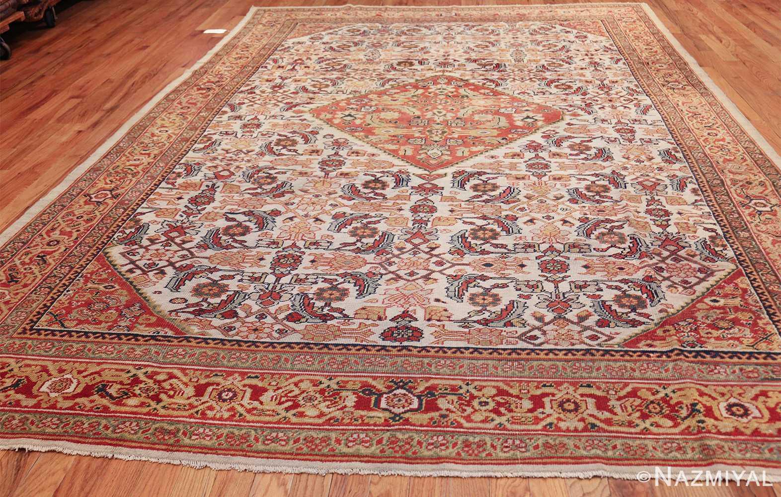 ivory antique sultanabad persian rug 50659 whole Nazmiyal