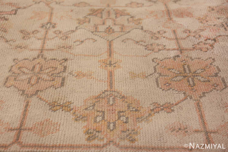 Large Decorative Antique Ivory Turkish Oushak Rug 50675 Pattern Nazmiyal