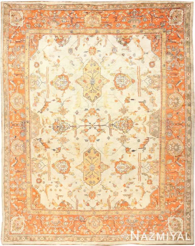Large Decorative Antique Turkish Oushak Oriental Rug 50674 Nazmiyal