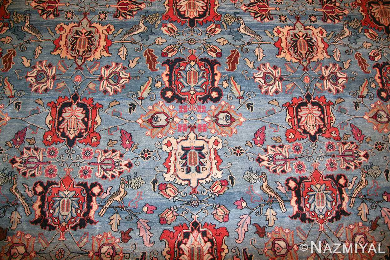 light blue antique persian tabriz oriental rug 48820 field Nazmiyal