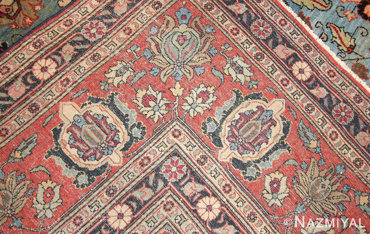 light blue antique persian tabriz oriental rug 48820 weave Nazmiyal