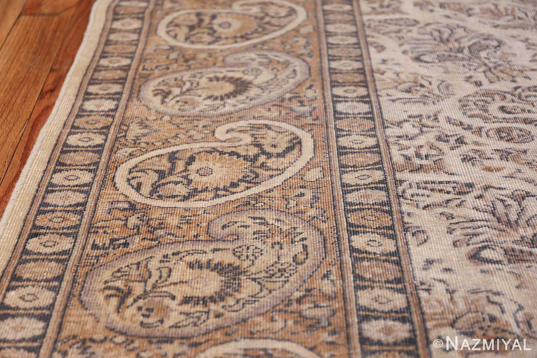 Paisley Design Antique Turkish Sivas Carpet 50520 Border Side Nazmiyal