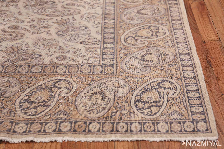 Paisley Design Antique Turkish Sivas Carpet 50520 Side Corner Nazmiyal