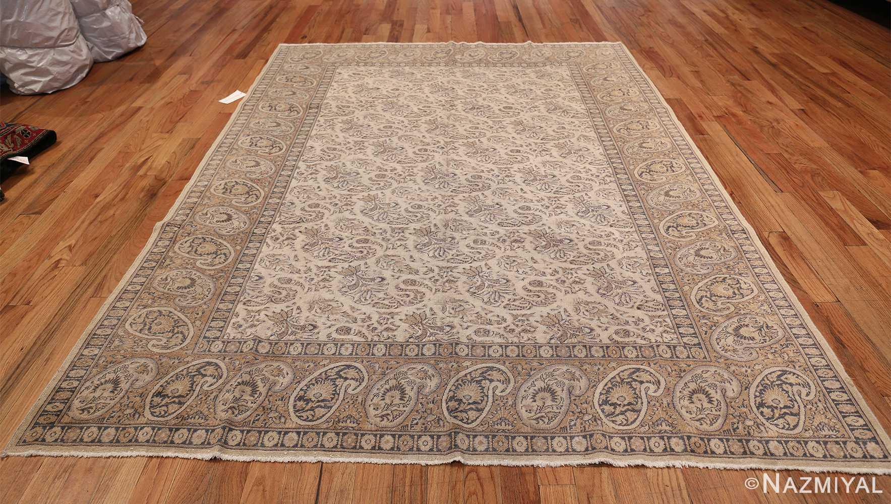 Paisley Design Antique Turkish Sivas Carpet 50520 Whole Design Nazmiyal