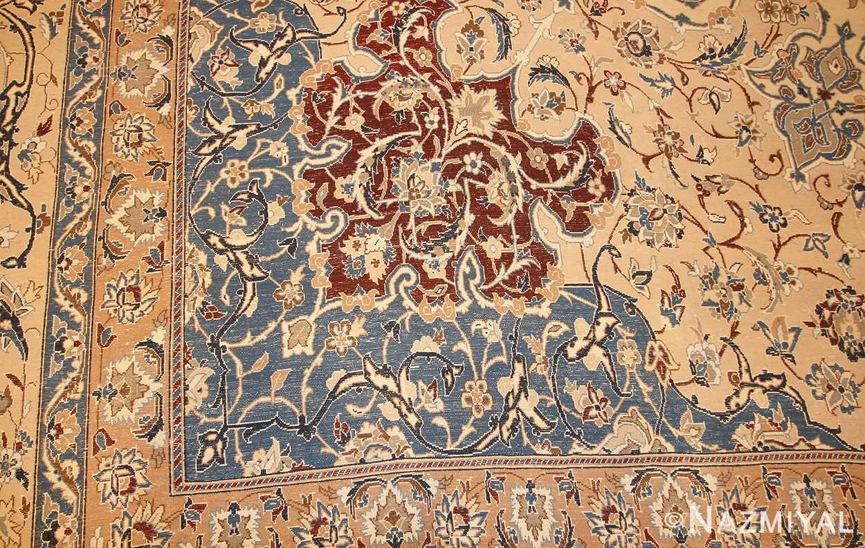 palace size fine silk and wool persian nain carpet 50689 corner Nazmiyal