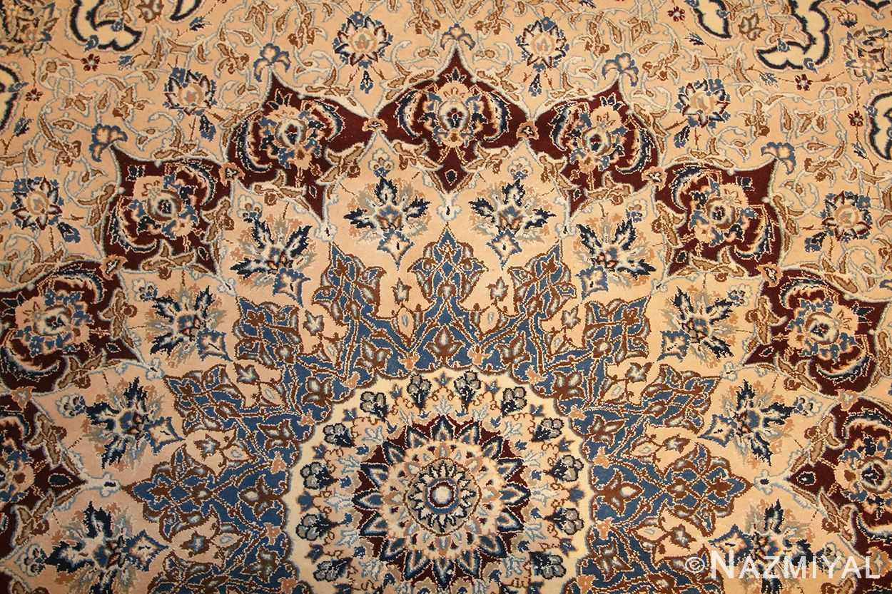 palace size fine silk and wool persian nain carpet 50689 design Nazmiyal