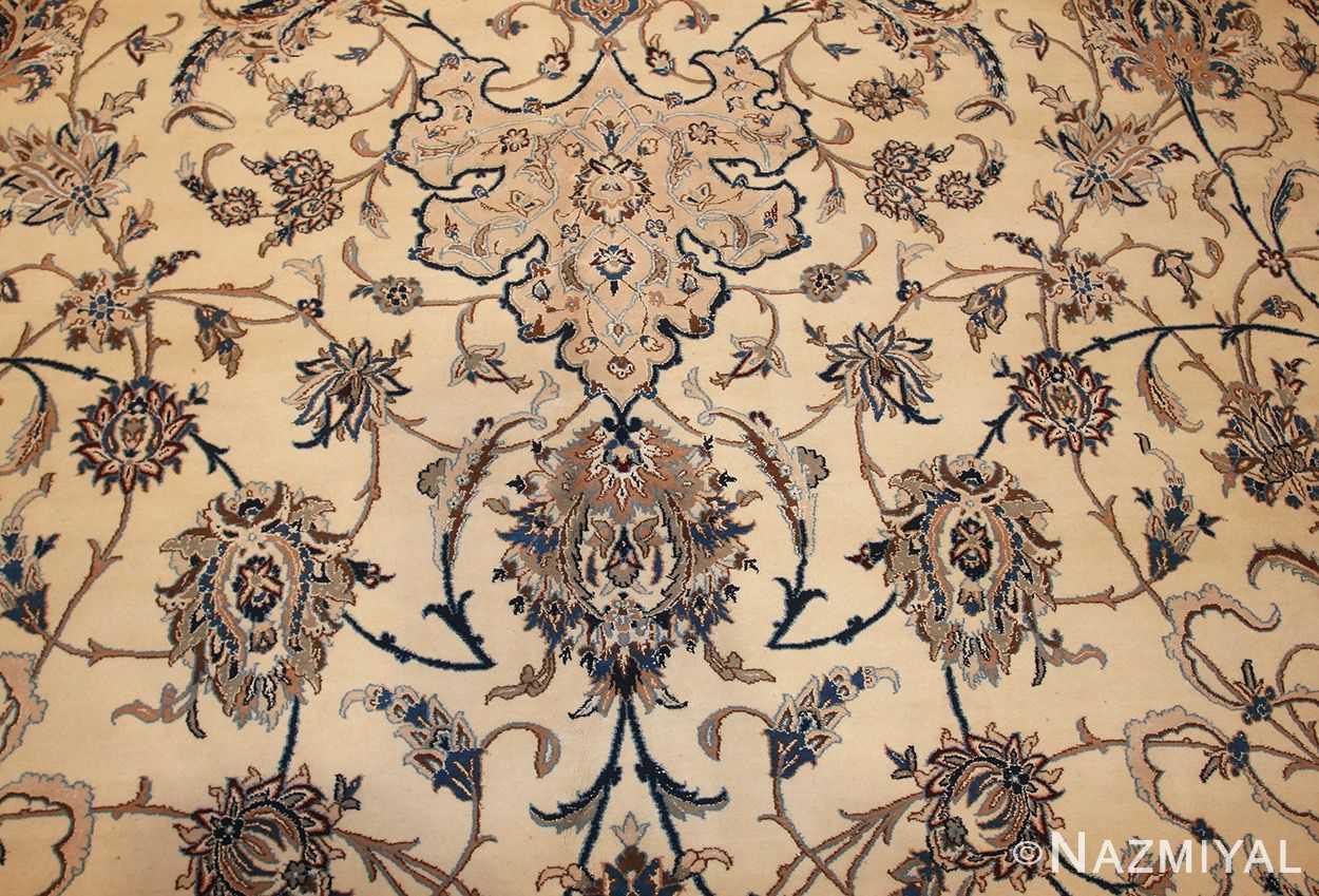 palace size fine silk and wool persian nain carpet 50689 field Nazmiyal