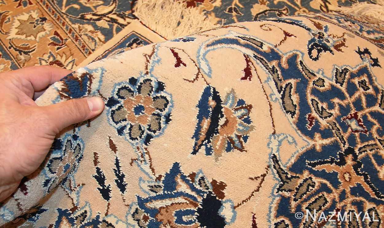 palace size fine silk and wool persian nain carpet 50689 pile Nazmiyal