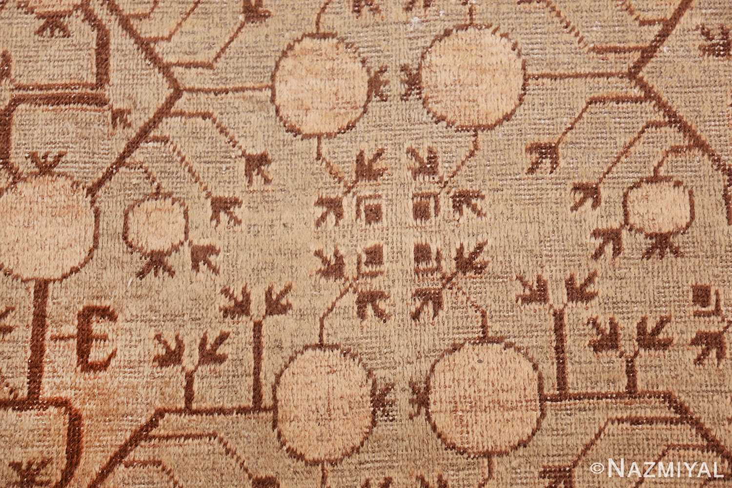 pomegranate design antique khotan rug 50673 closeup Nazmiyal
