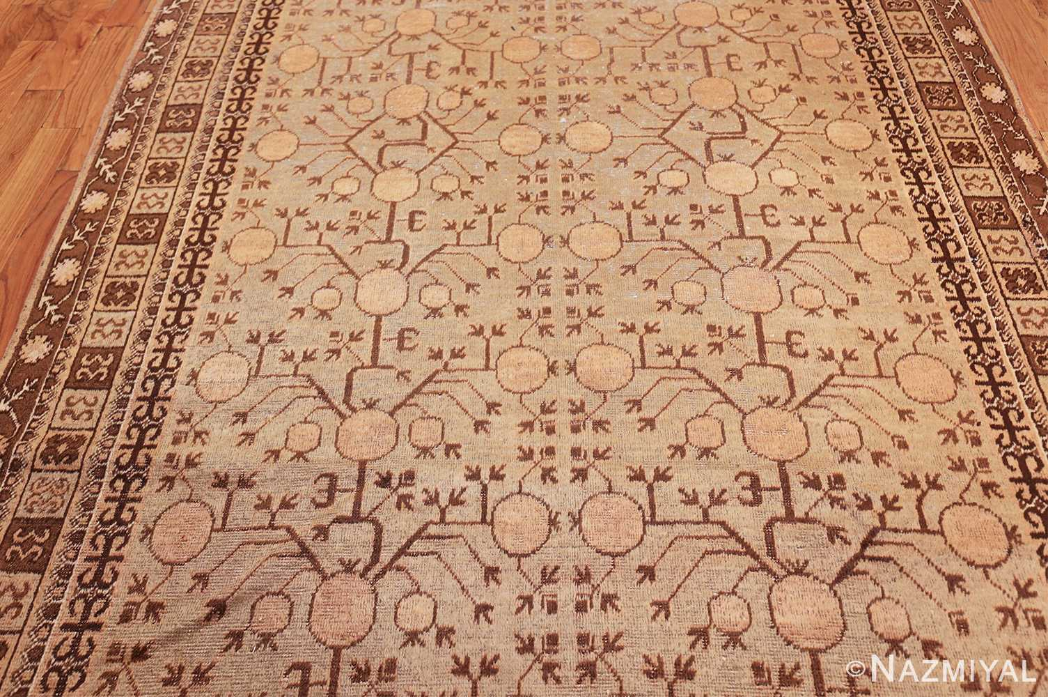 pomegranate design antique khotan rug 50673 field Nazmiyal