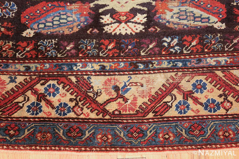 rare 18th century antique tribal turkish kula rug 48808 border Nazmiyal