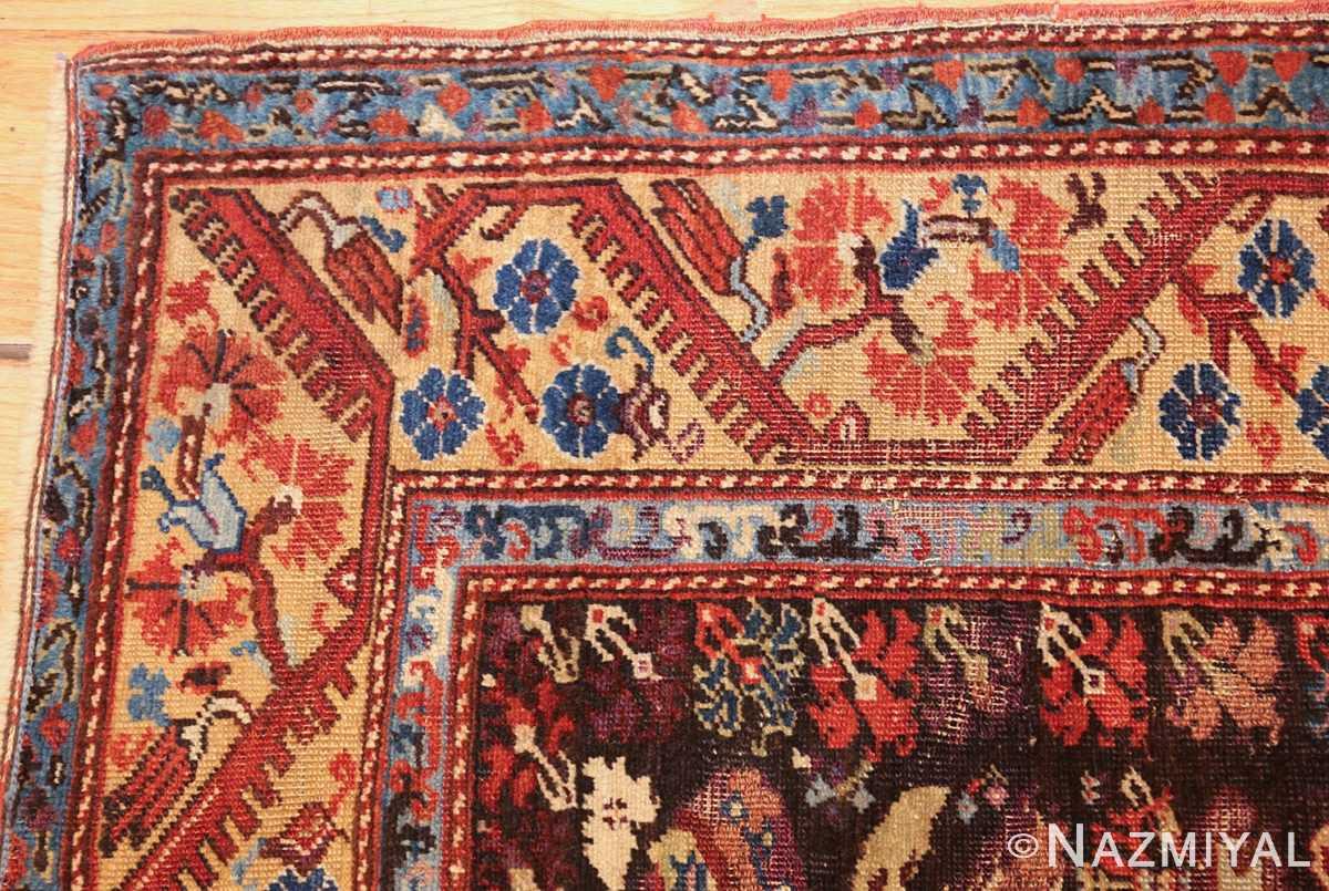 rare 18th century antique tribal turkish kula rug 48808 corner Nazmiyal