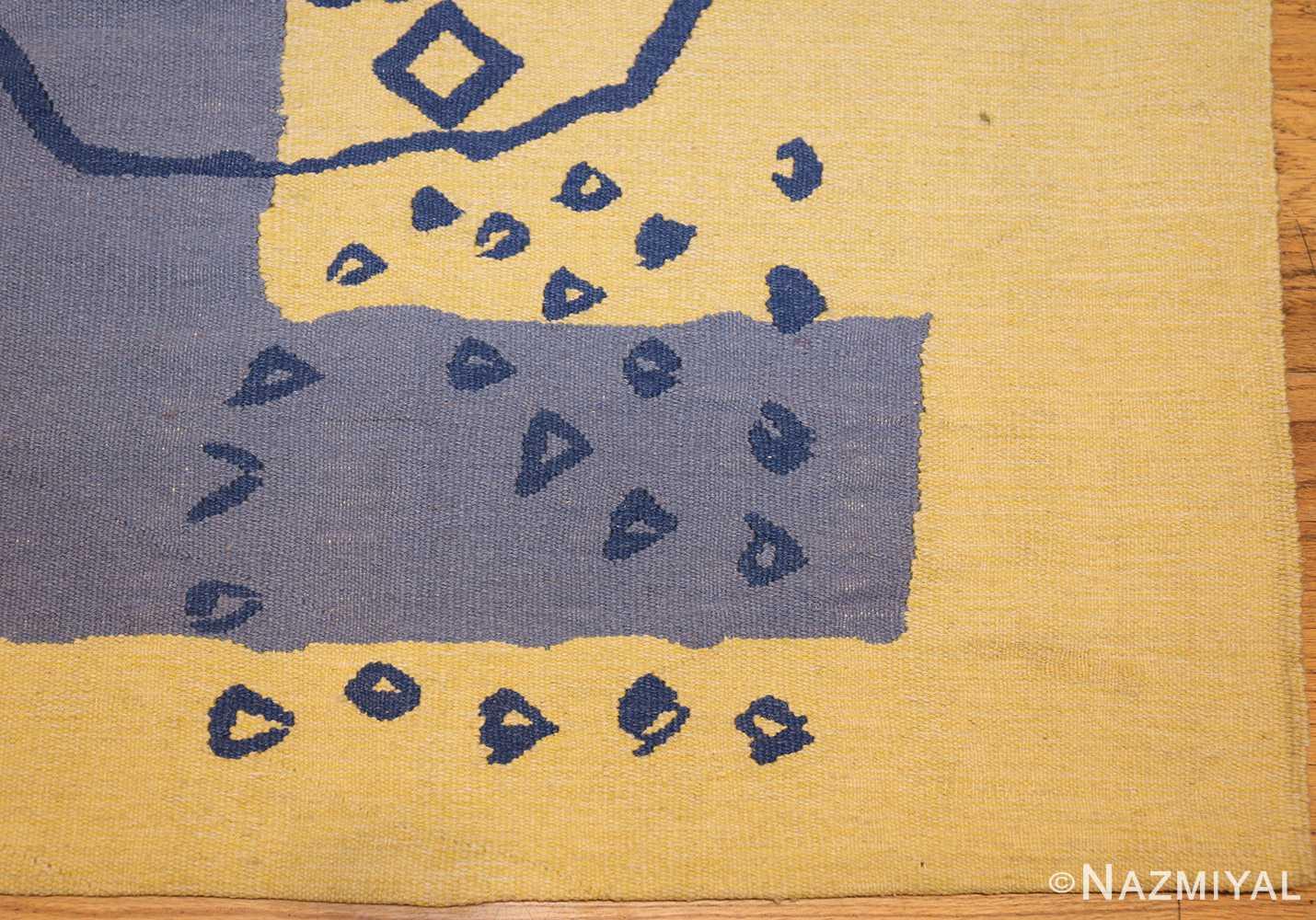 square vintage art deco french tapestry 48832 corner Nazmiyal