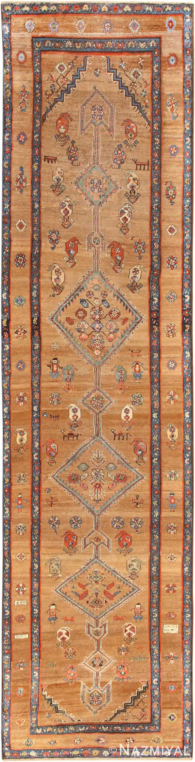 Tribal Antique Persian Serab Runner Rug 48807 Nazmiyal